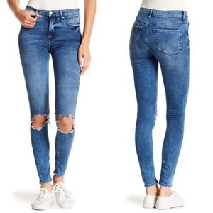 Free People Buster Knee High Waisted Skinny Sz 28